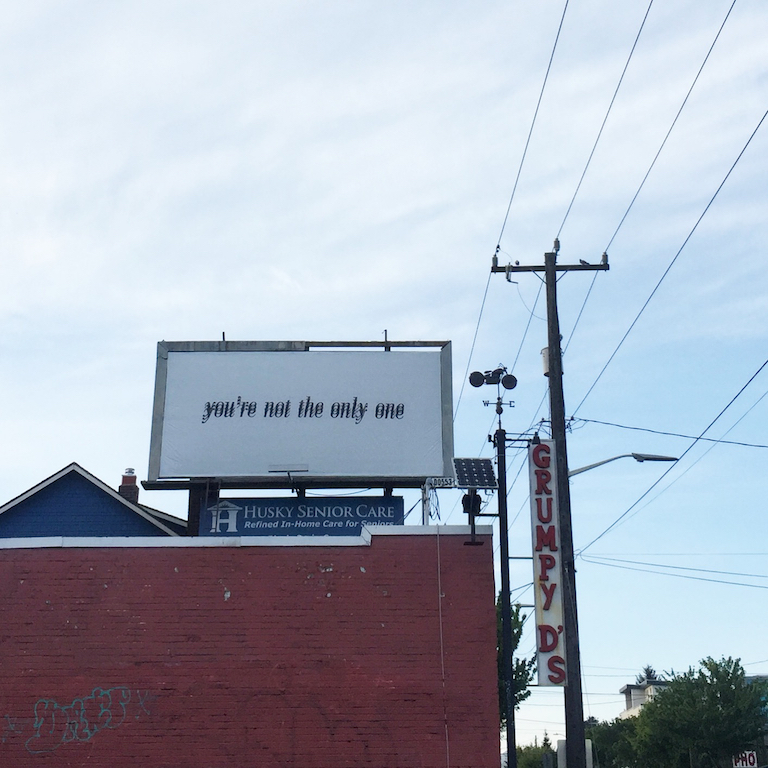 Not the only one billboard