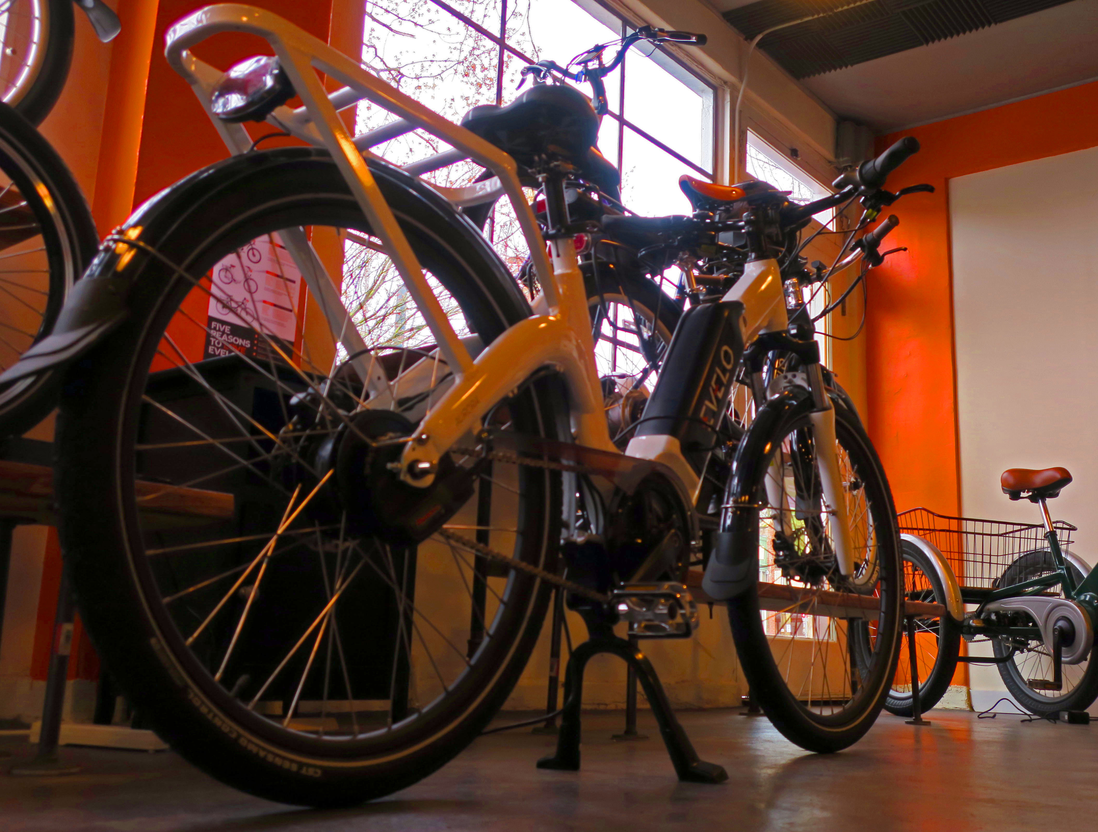 The Evelo showroom in the Madrona  Neighborhood features the companies direct-to-consumer e-bikes.