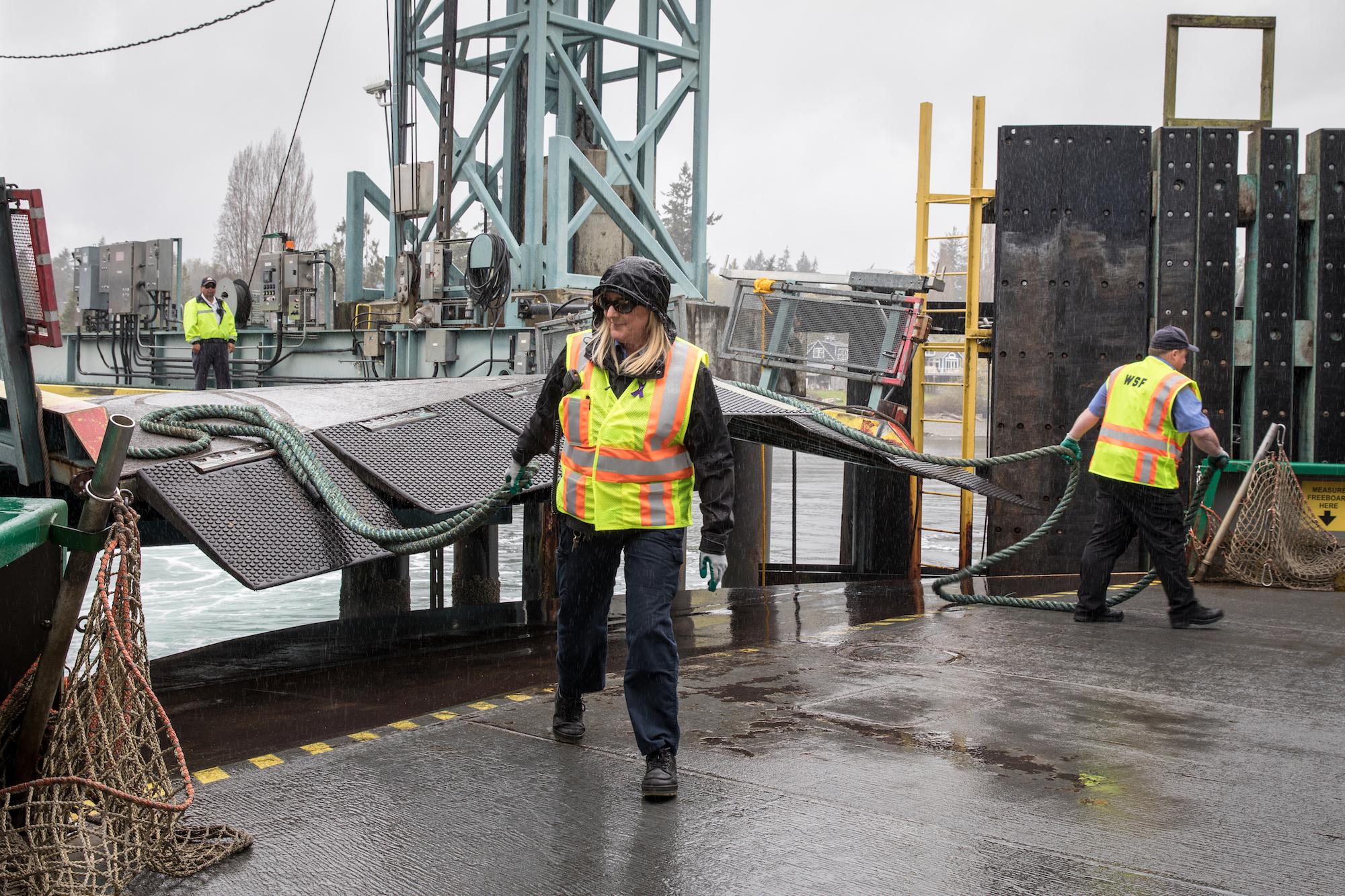 Ferry crewmember