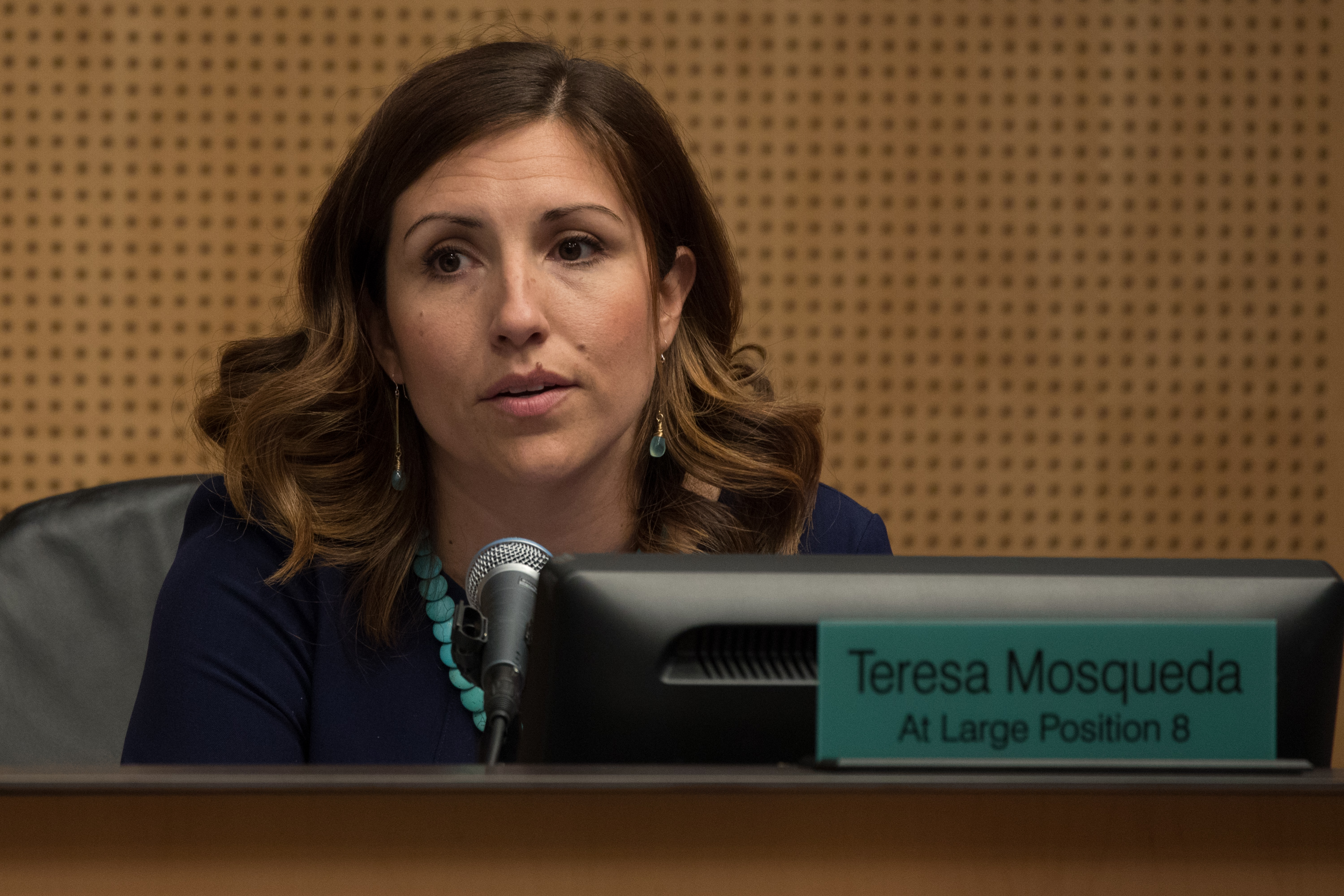 Seattle City Councilmember Teresa Mosqueda during a vote to repeal the head tax at City Hall in Seattle, June 12, 2018. (Photo by Matt M. McKnight)