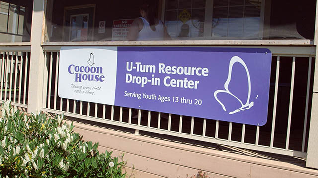 Cocoon House sign
