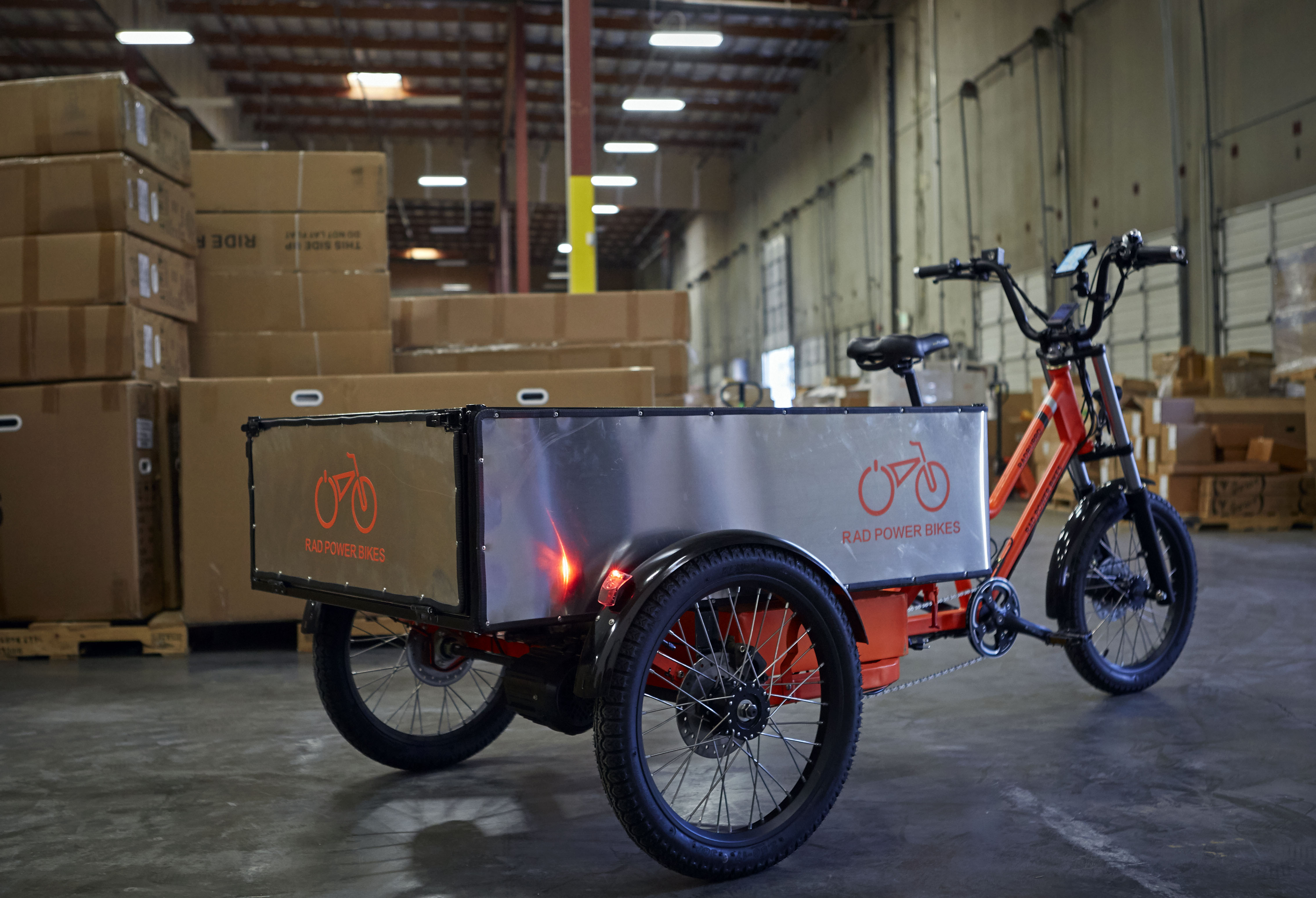 The Rad Burro is a new cargo-toting e-bike made by Rad Power Bikes in Ballard. Photo by Rad Power Bikes