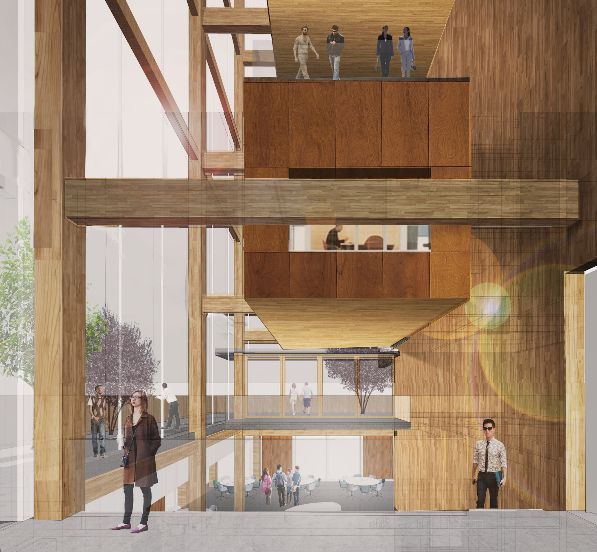 UW Center for Wood Innovation, rendering by Vy Nguyen