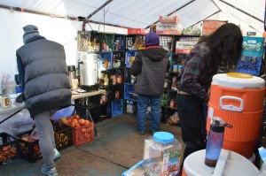 Tent City kitchen