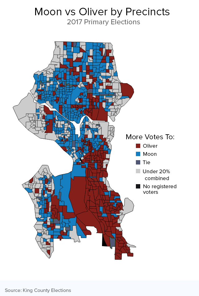 Seattle Political Map.Who Voted For Whom A Dive Into Seattle S Election Data Crosscut