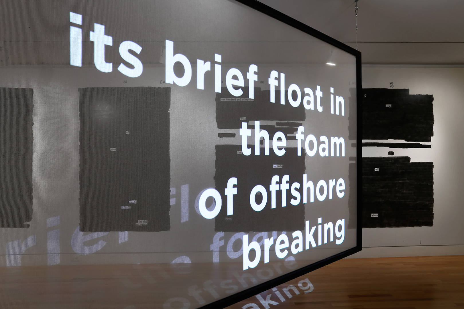 Quenton Baker's poetry projected at Frye Art Museum