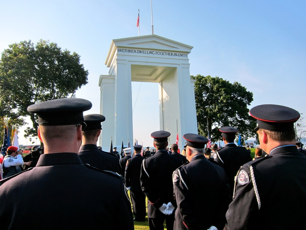 Uniforms at the Peace Arch