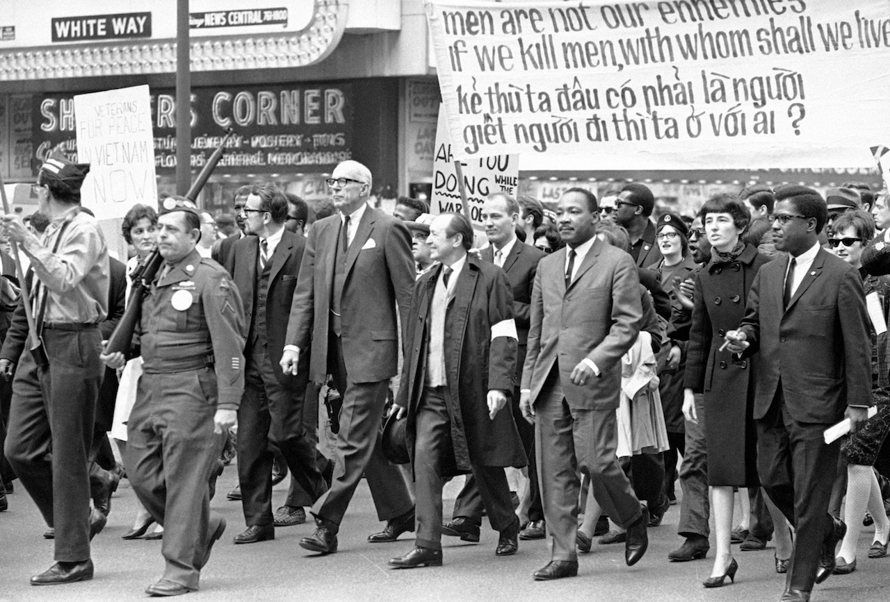 Martin Luther King Jr. at a 1967 march against the Vietnam War