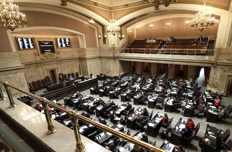 The Washington state House of Representatives chamber