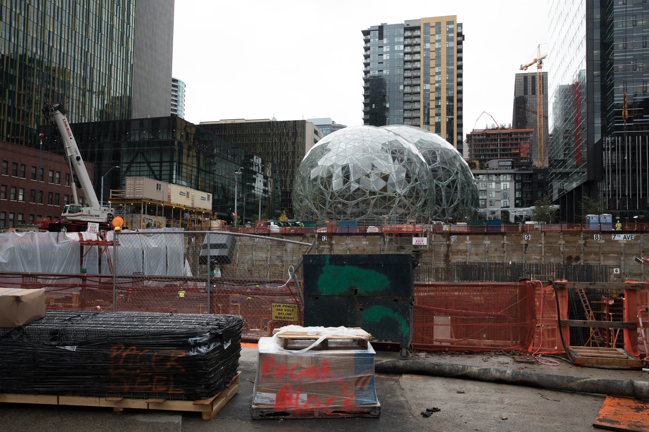 Amazon's Seattle campus in South Lake Union.