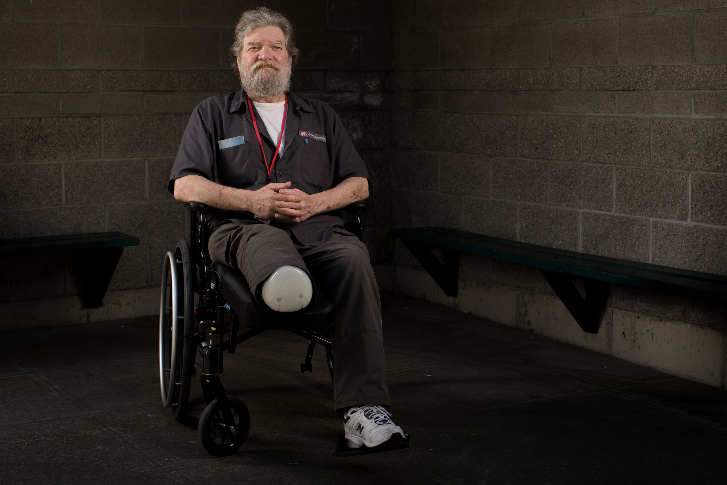 Veteran Lawrence Cruikshank, photographed at Salvation Army's William Booth Center in Seattle, May 24, 2018.