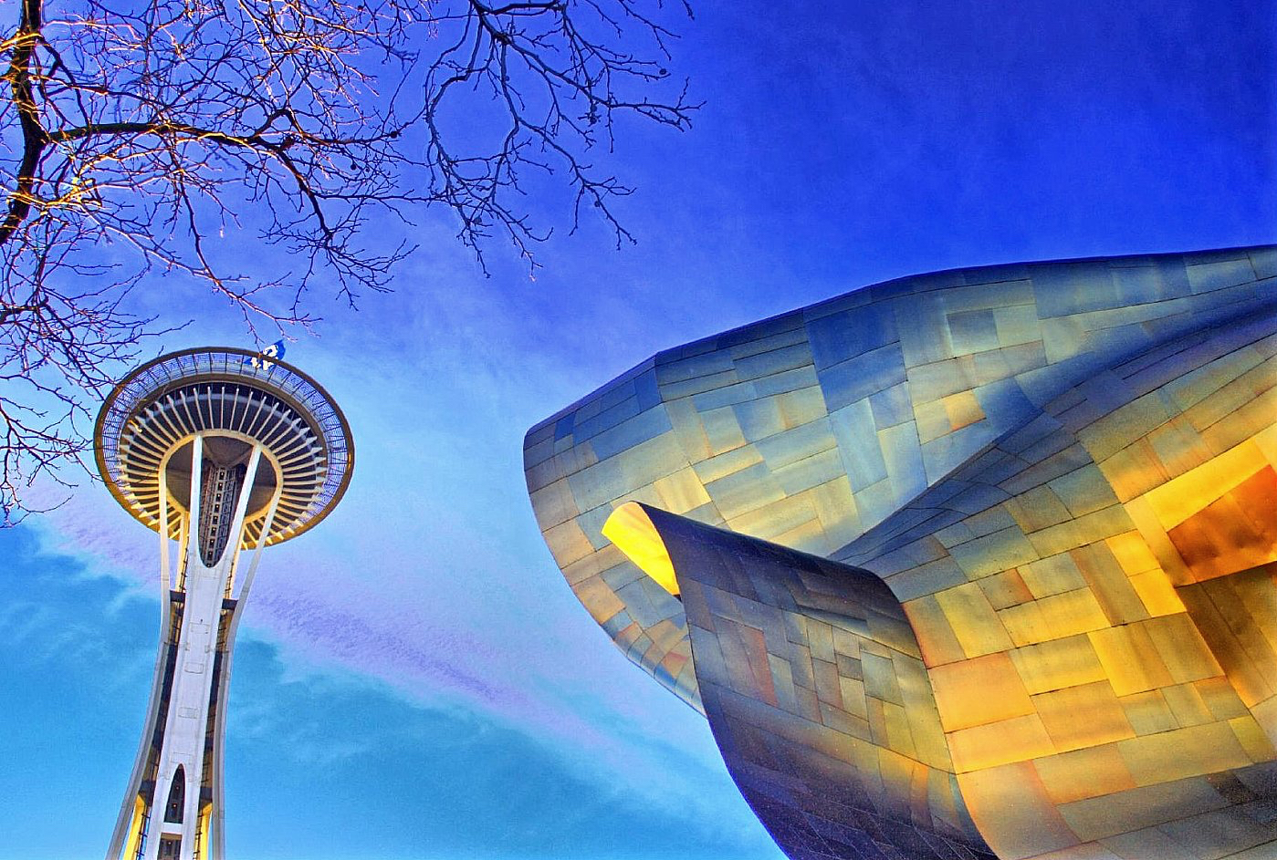 Seattle Center Space Needle MoPop