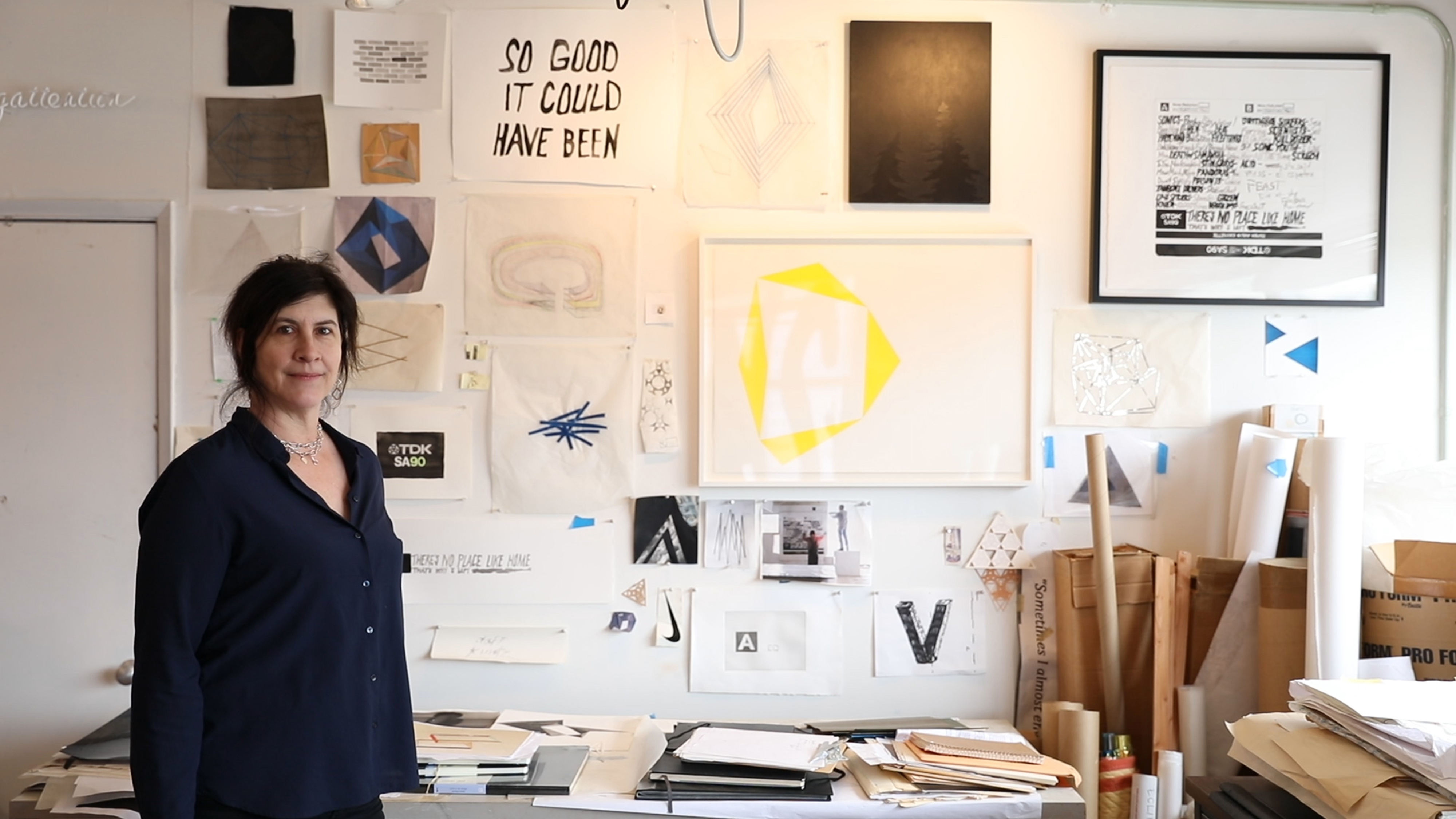 Artist Victoria Haven in her South Lake Union studio in Seattle