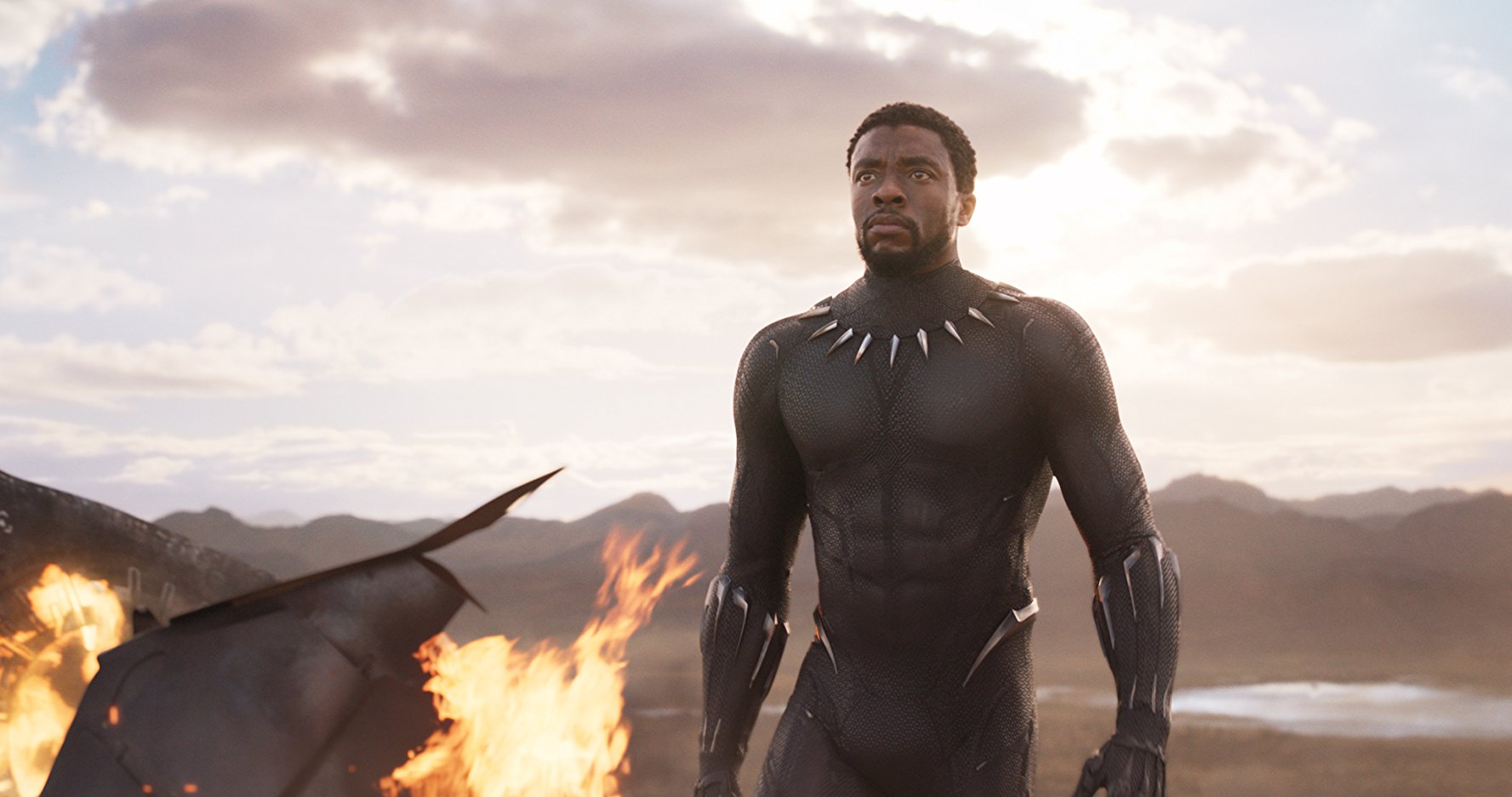 Chadwick Boseman is seen in the new movie, Black Panther