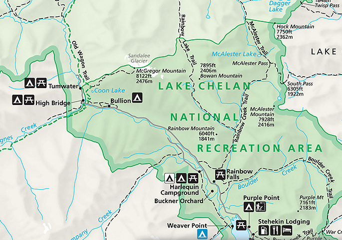 coon lake map
