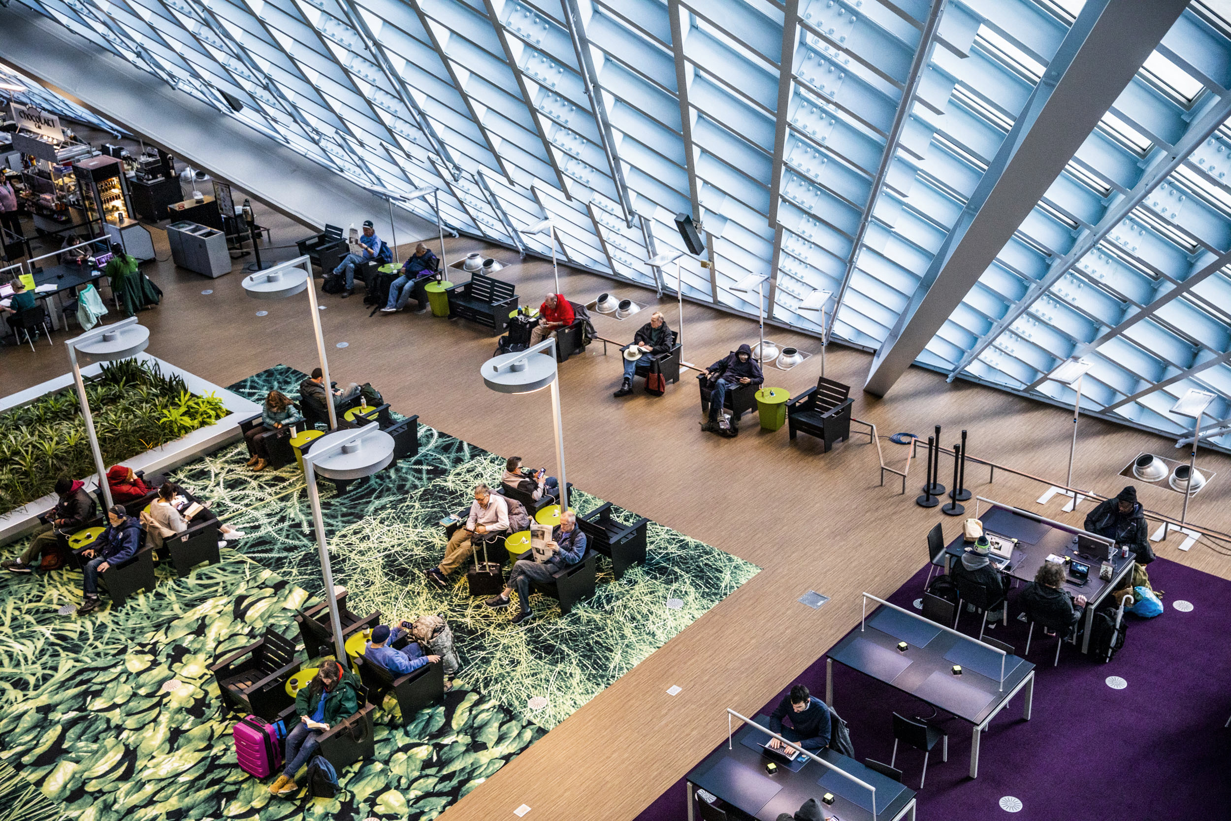 Seattle Public Library's Central Branch, designed by Rem Koolhaas