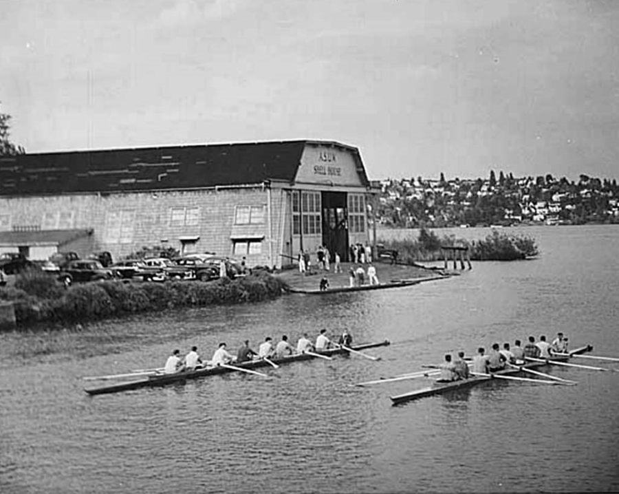 asuw shell house and Montlake Cut in 1918