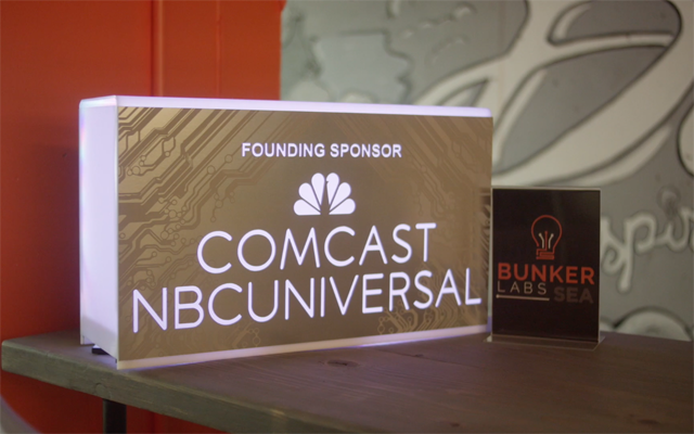 "Comcast is a founding sponsor of ""Bunker Labs."""