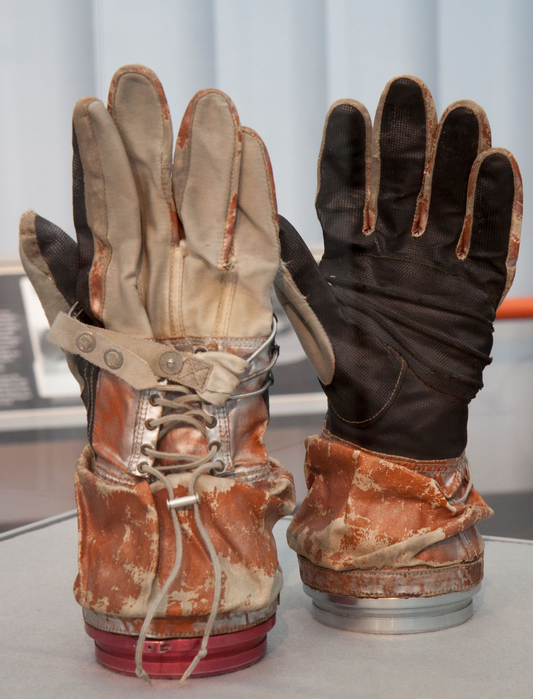 Early NASA space suit gloves