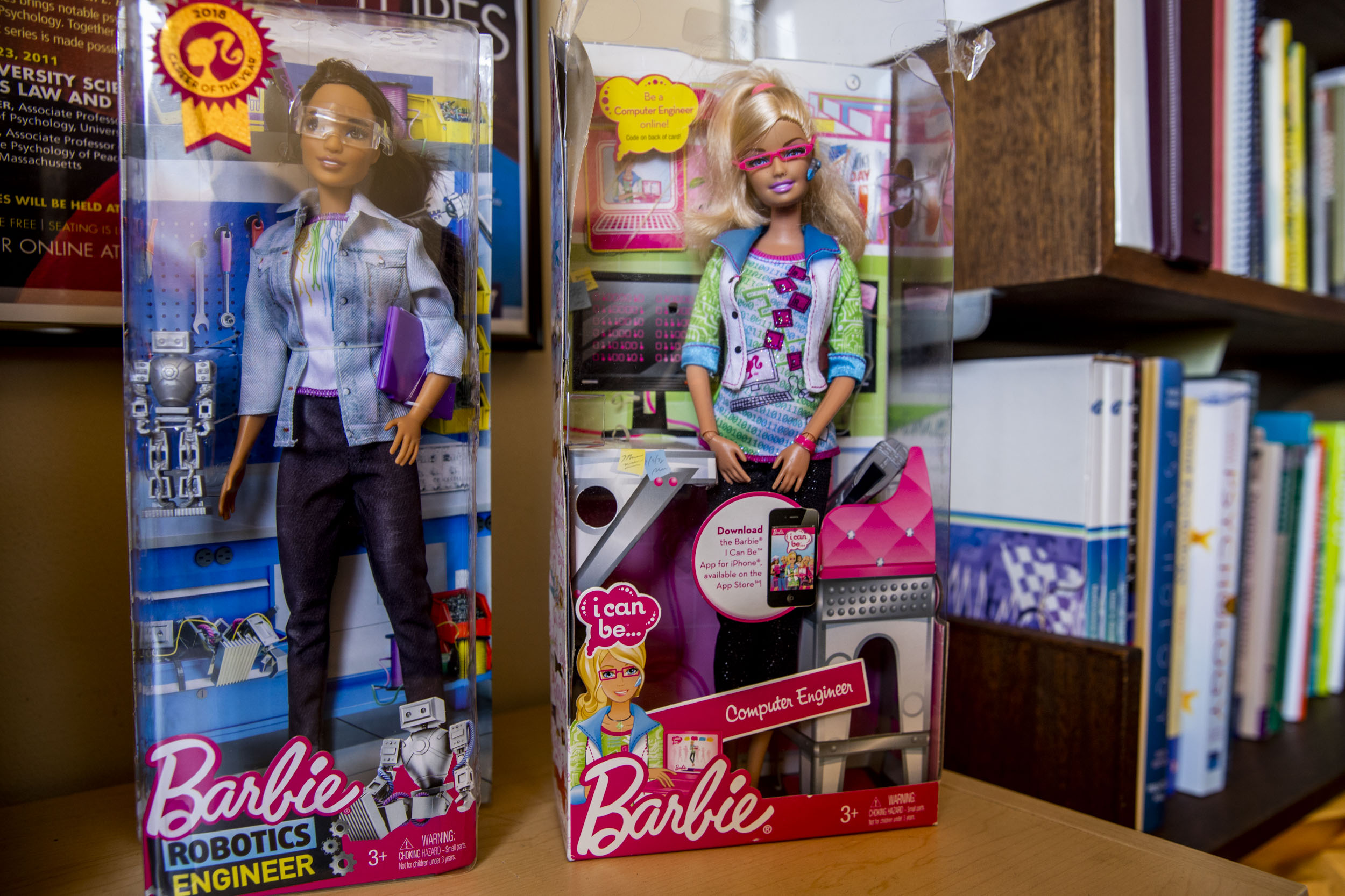 two tech career barbie dolls