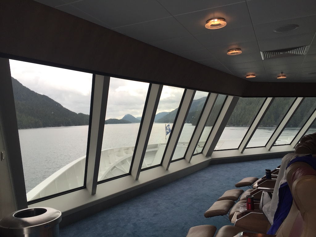 view from inside the ferry
