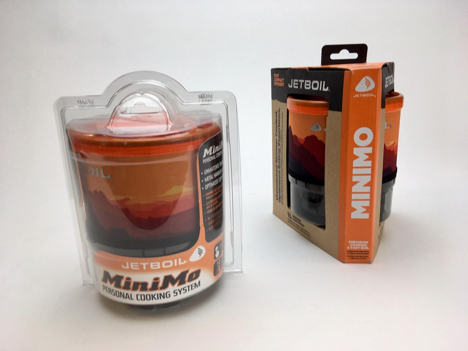 BillerudKorsnäs designers created a cardboard replacement to the plastic casing Jetboil was using for its camping stoves.  Cassandra Profita/OPB/EarthFix
