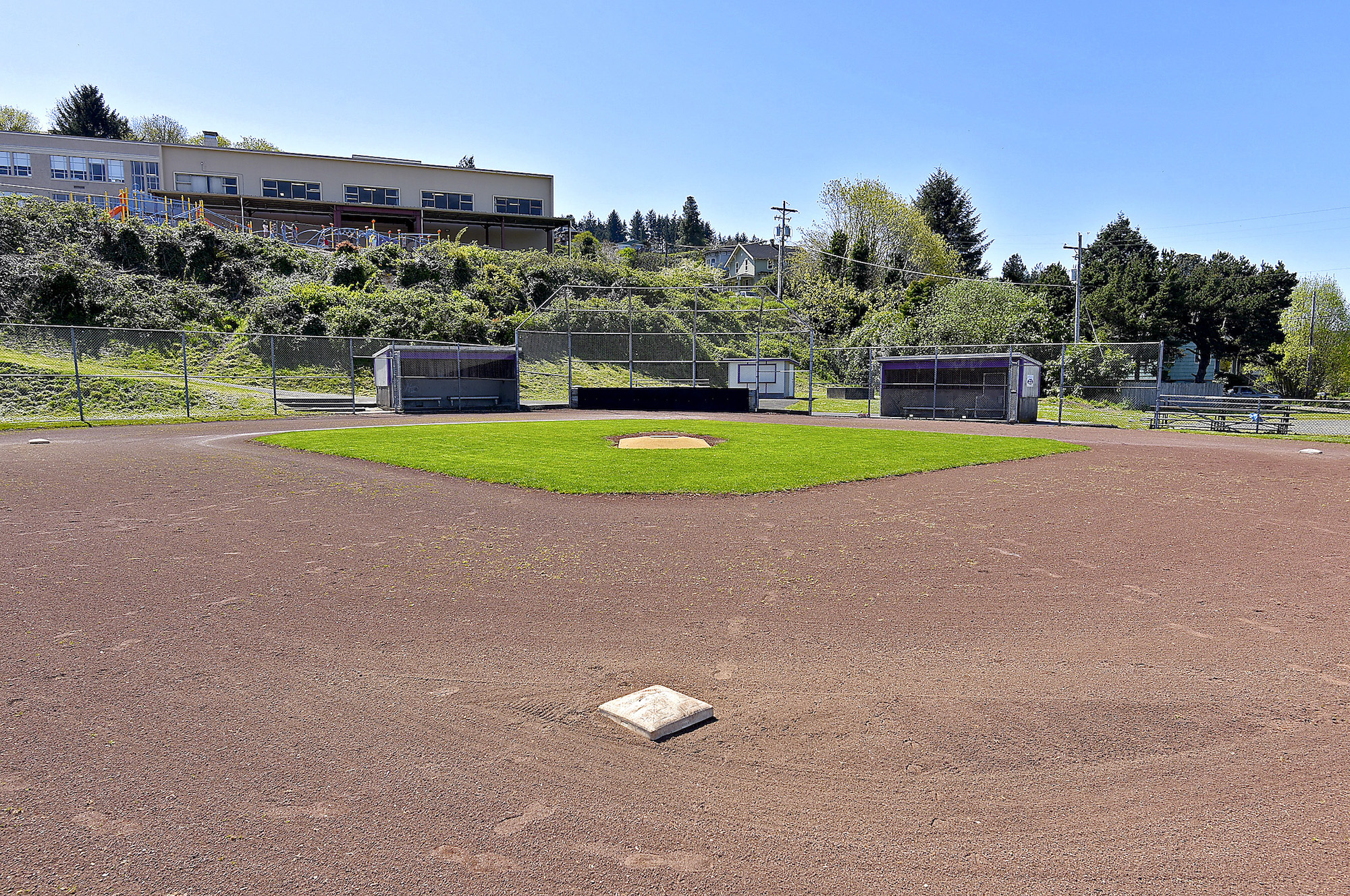 The baseball field in Astoria where a KKK rally was once held