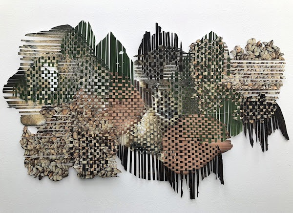Markel Uriu's woven invasive species maps at Hedreen Gallery