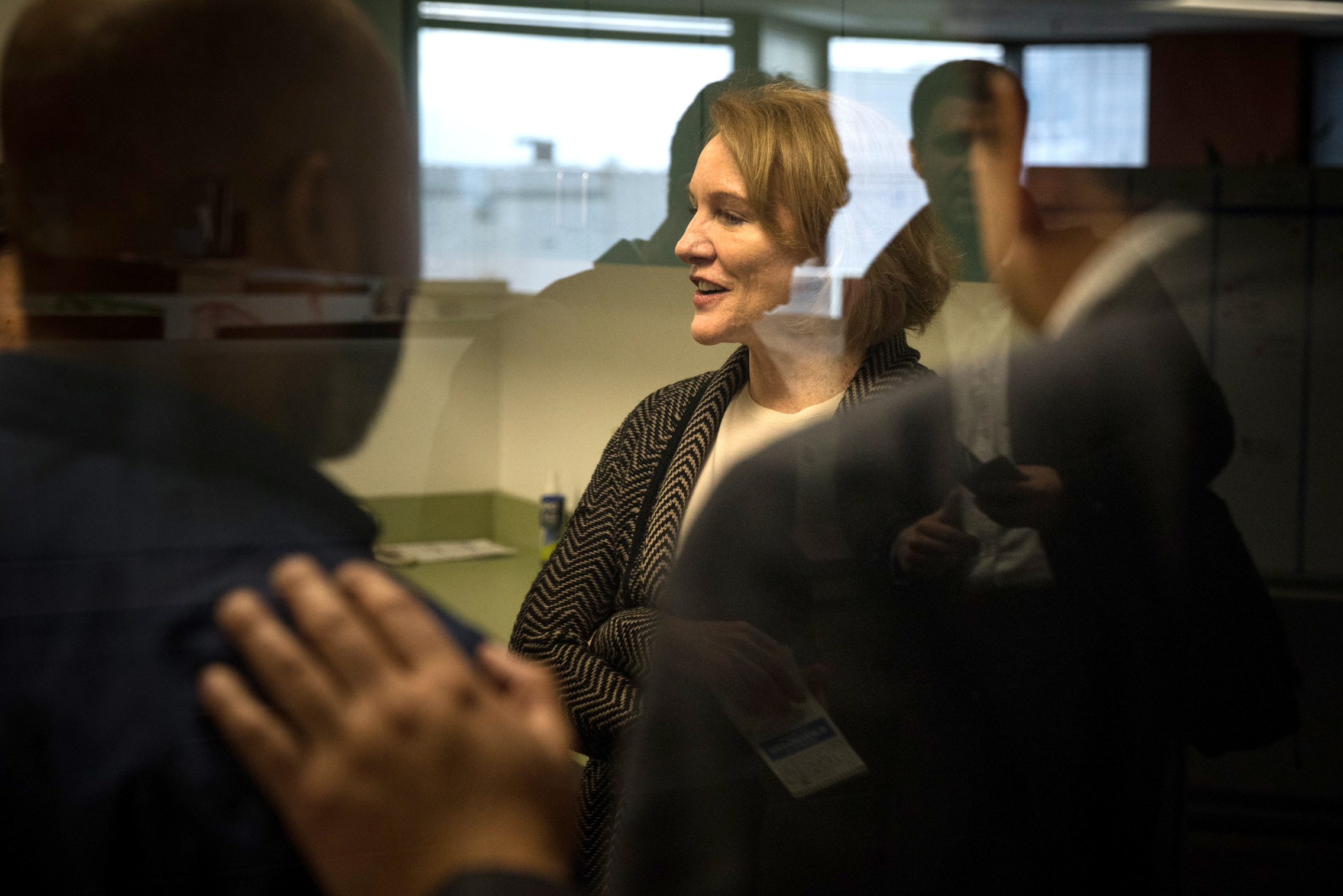 Mayor Jenny Durkan connects with employees at the Department of Education and Early Learning in Seattle Municipal Tower