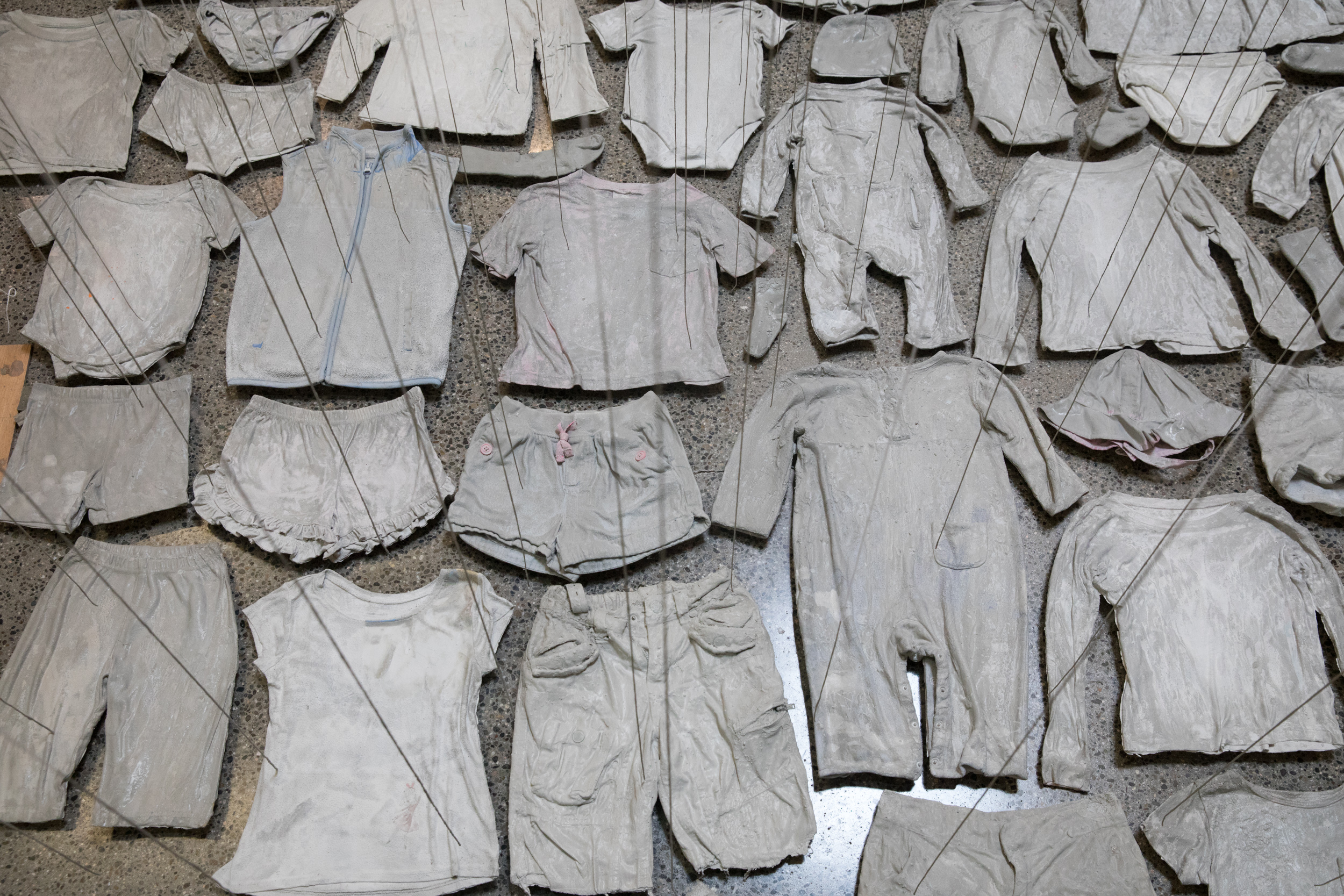 cemented children's clothes
