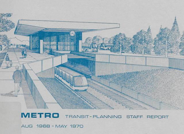 Transit planning report from 1968 for Forward Thrust