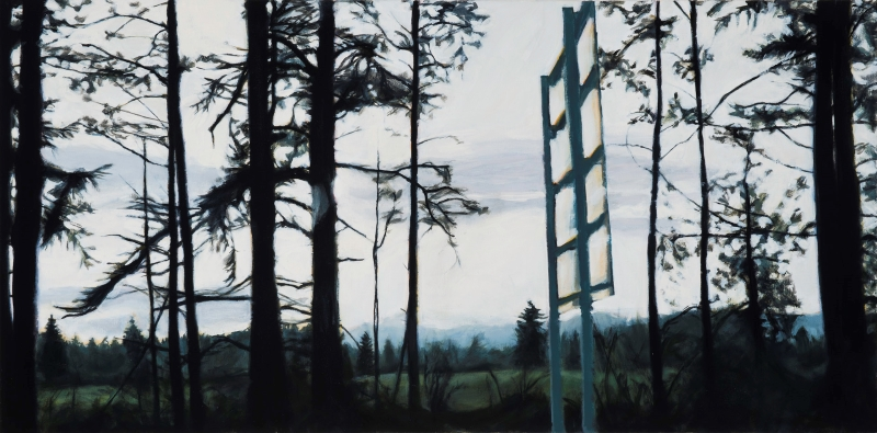 Molly Magai's painting Oregon Roadside