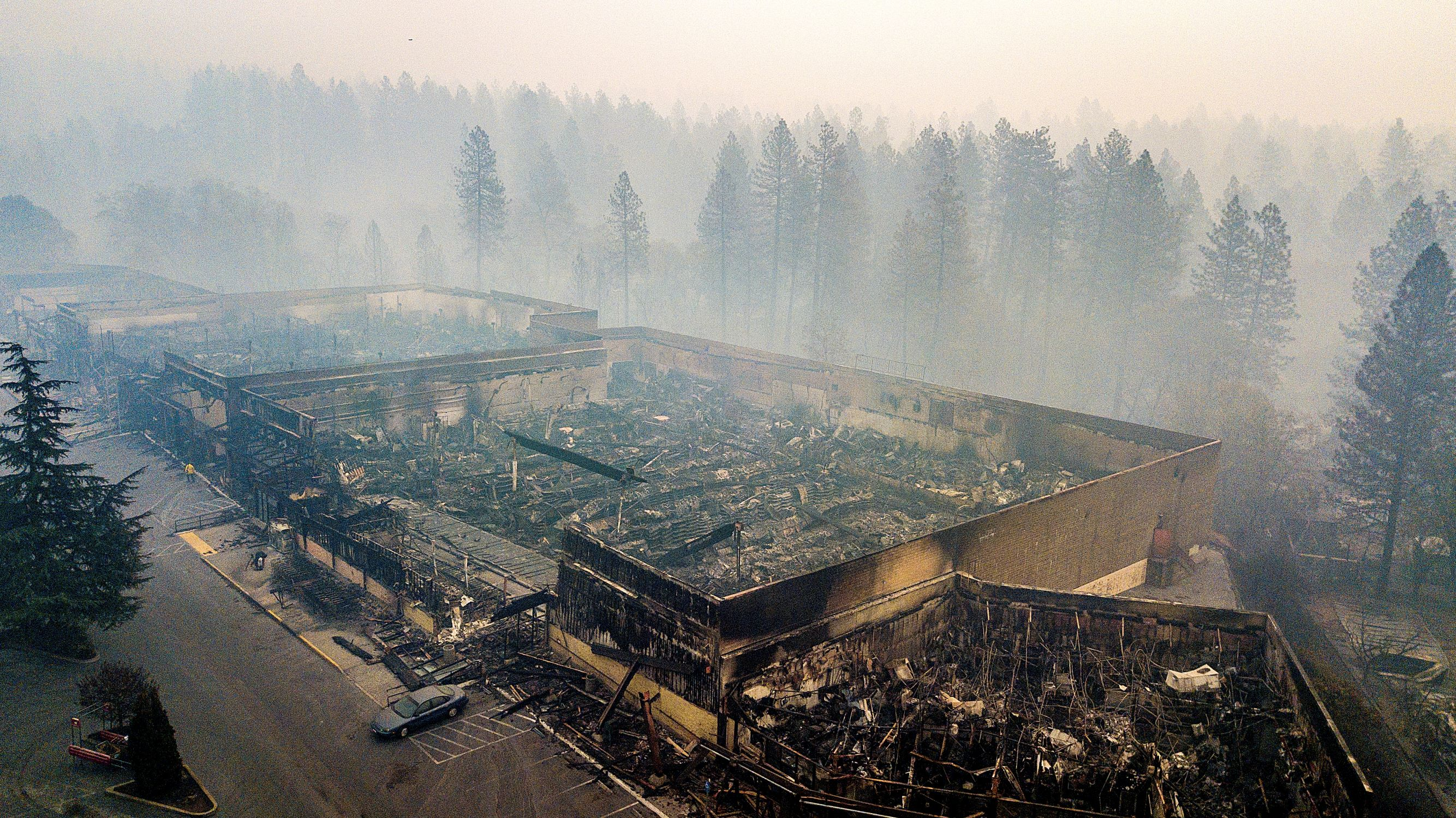 Scorched grocery store