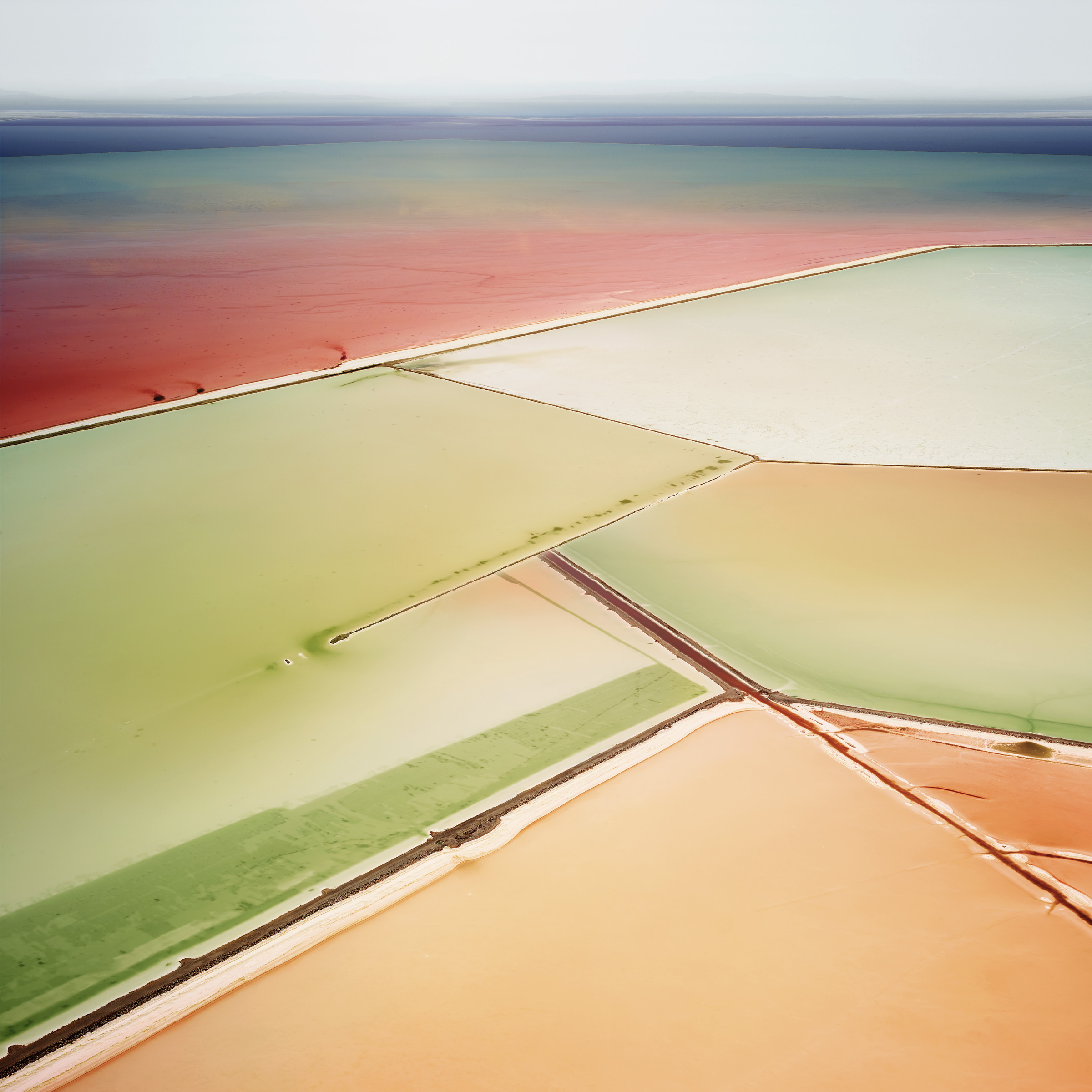 "David Burdeny, ""Saltern Study 06, Great Salt Lake, Utah, 2015"" (2015), archival pigment print PHOTO CREDIT: Courtesy of Foster/White Gallery"