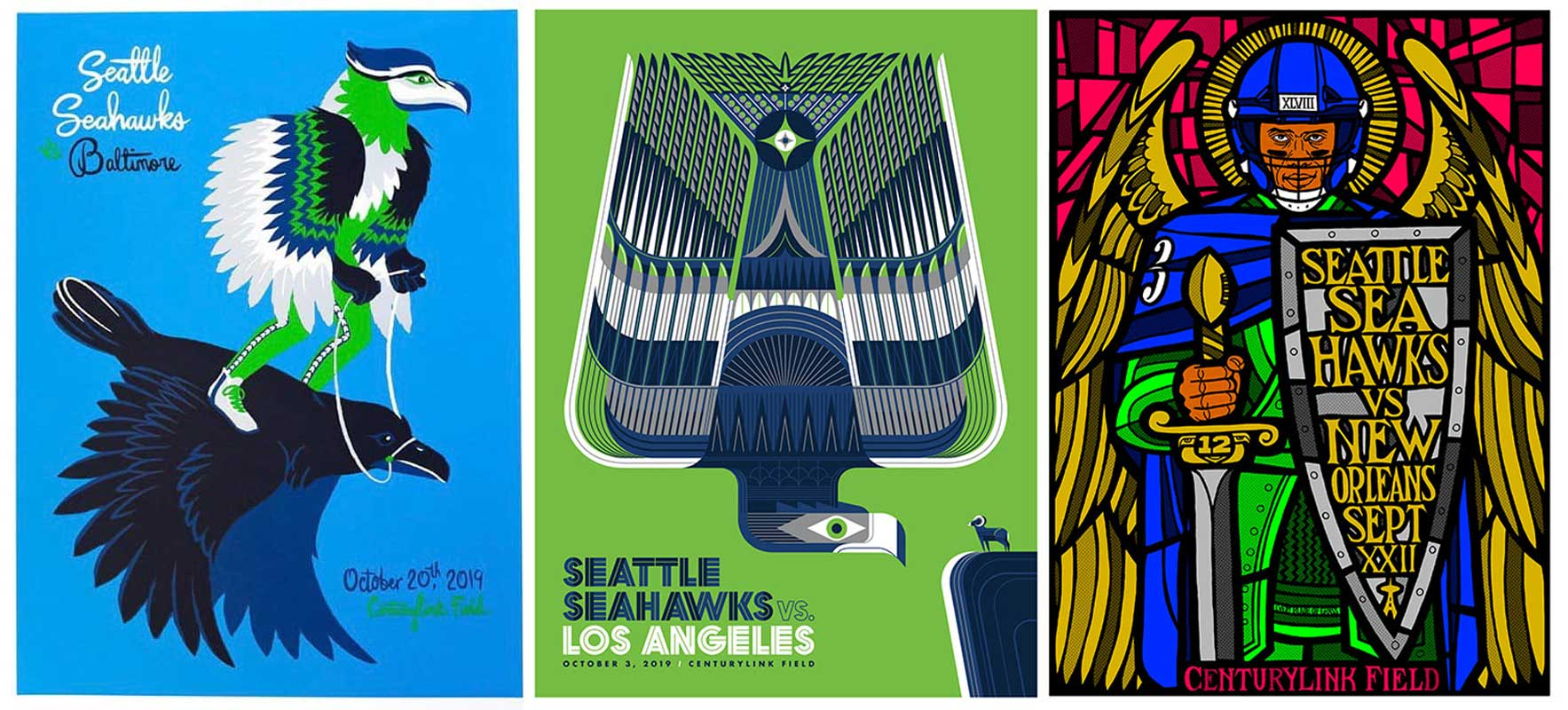 Seahawks draft Seattle artists for new series of game-day posters