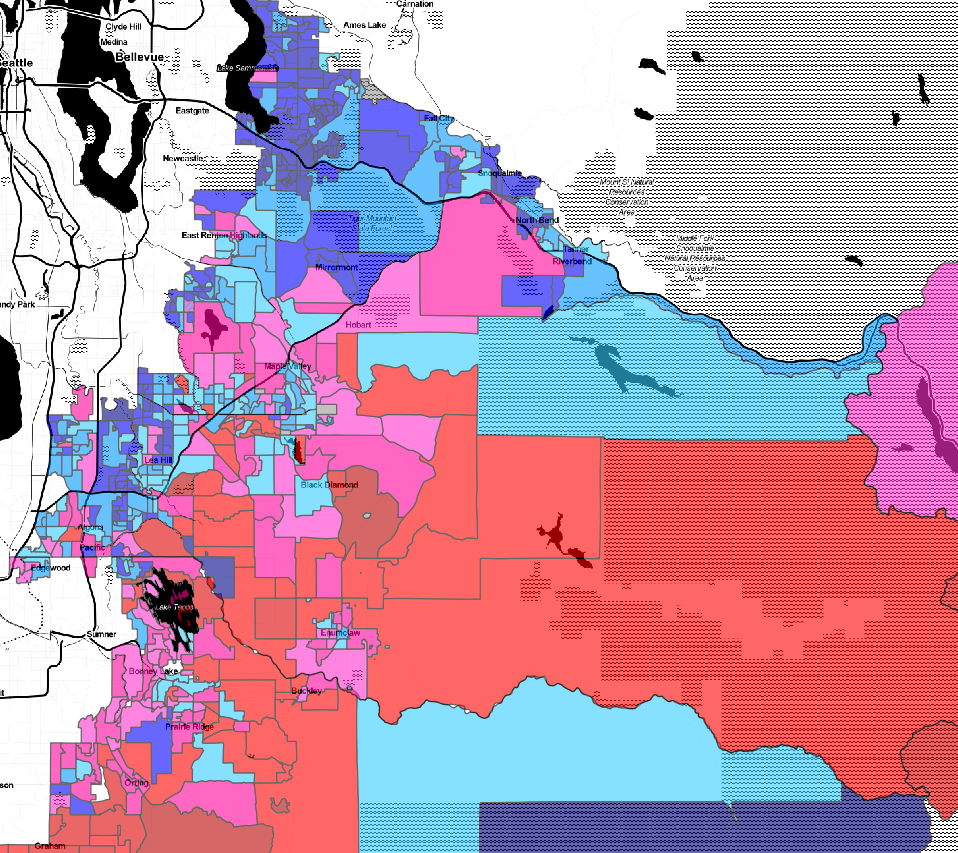 Red, blue and purple: Primary election results had them all in the 8th Congressional District.