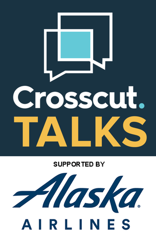 Crosscut Podcasts Logo - Supported by Alaska Airlines