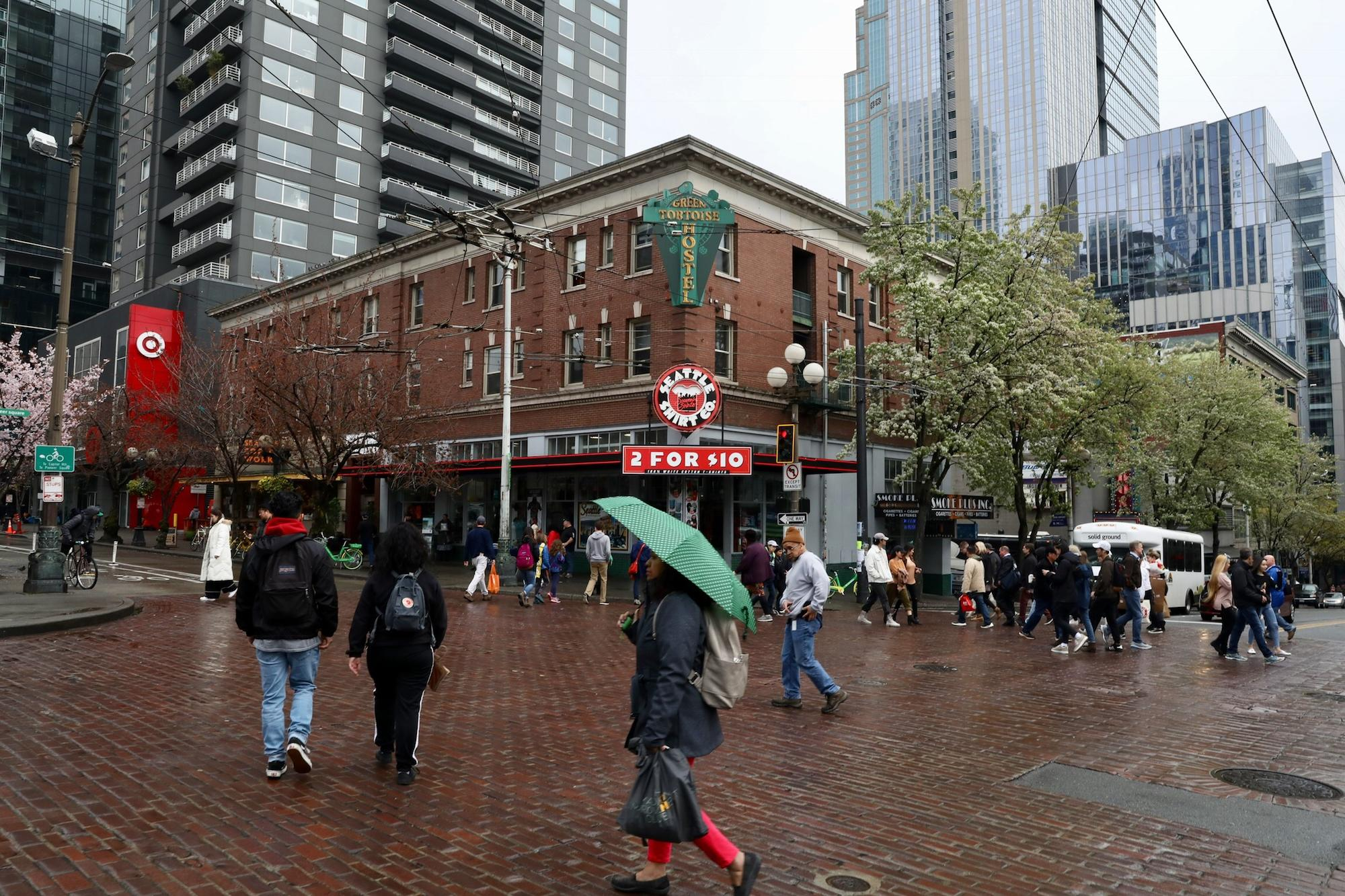 The red brick building at the entrance to Pike Place Market is slated for redevelopment