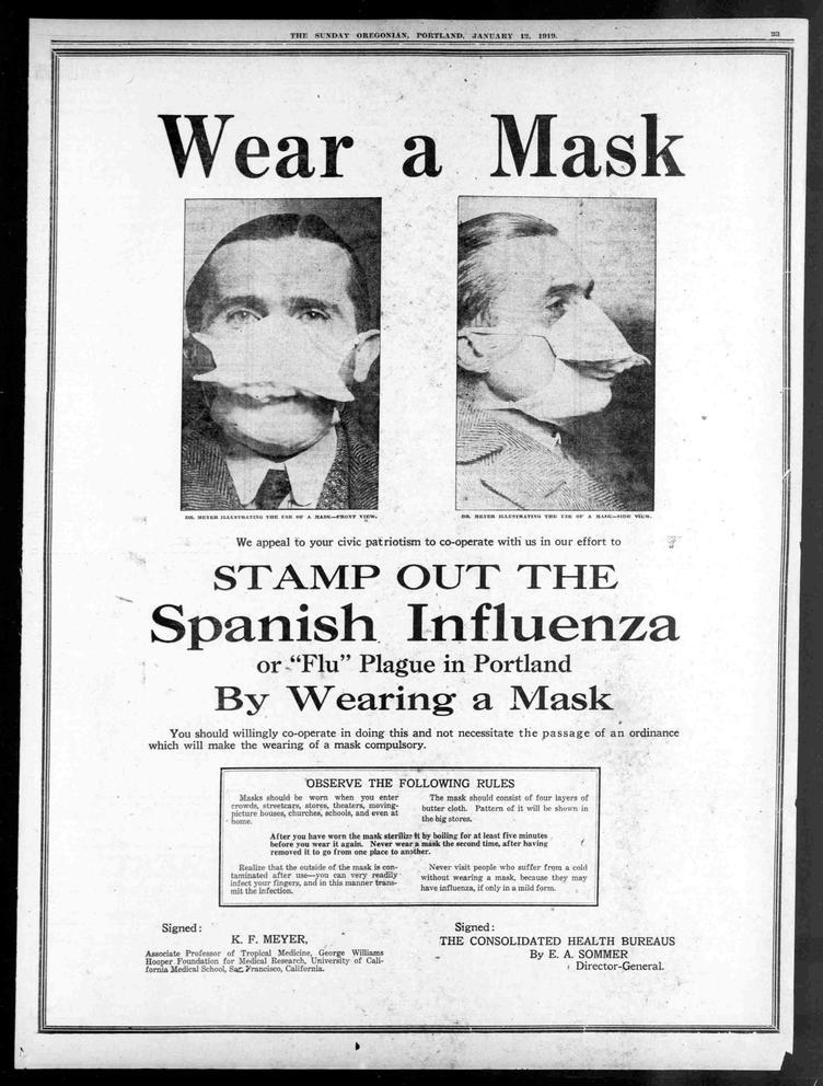 The mask wars of the 1918 flu pandemic | Crosscut