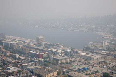 Lake Union from the Space Needle observation deck