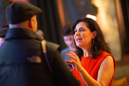 Tammy Morales celebrates at her election party in Columbia City