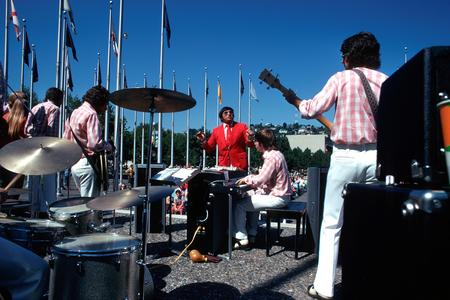 performers on stage at the 1974 Bumbershoot