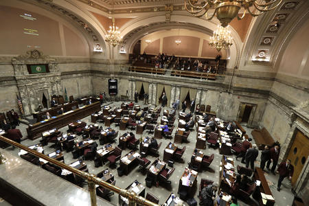 the state Senate floor