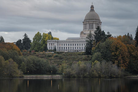 The Washington State Capitol and Supreme Court buildings