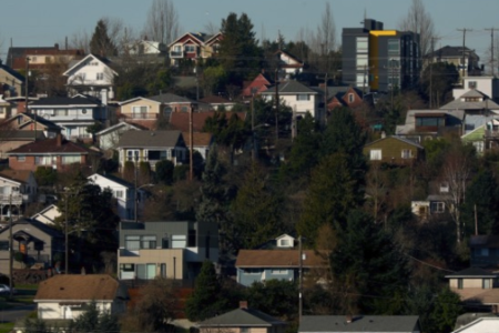 Single-family homes on Beacon Hill in Seattle, Feb. 13, 2018. Credit: Matt M. McKnight/Crosscut