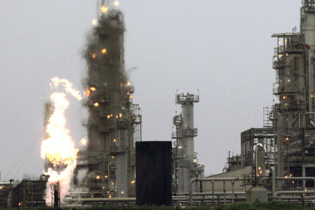 File photograph of Tesoro Corp. refinery in Anacortes. Credit: AP Photo/Ted S. Warren File