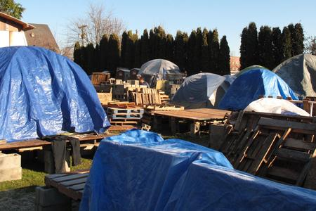 Homeless camp tarps (1)