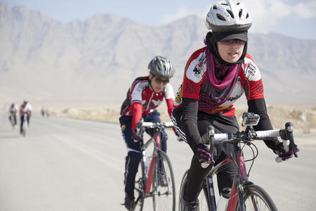 2014  training  ride  with  the  Women's  National  Cycling  Team  of  Afghanistan
