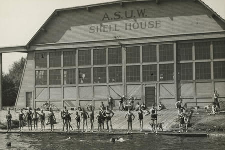 vintage photo of the rowing facility