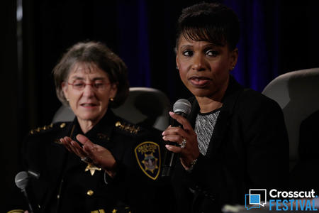Seattle Police Chief Carmen Best during 'Top Cops Talk Police Reform' at Crosscut Festival 2018 in Seattle on Feb. 3, 2018.